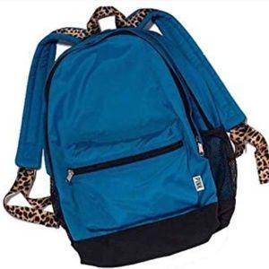 Victoria's Secret Pink Cheetah Blue Backpack